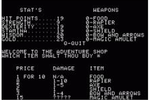 Akalabeth: World of Doom Download (1980 Role playing Game)