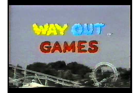 WAY OUT GAMES opening credits kid's game show CBS - YouTube