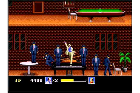 Michael Jackson's Moonwalker game. The moonwalk, spin, toe ...
