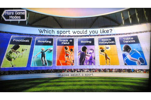 XboX 360: Kinect Sports (Menu) See me play ;) all games ...