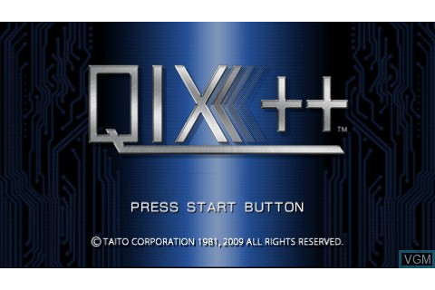 Qix++ for Sony PSP - The Video Games Museum