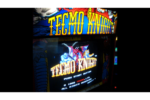 TECMO KNIGHT Arcade Game - Vintage 1989 Slasher - Gameplay ...