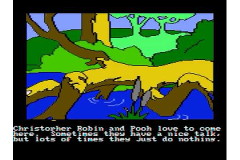 DOS Game: Winnie the Pooh in the Hundred Acre Wood (1985 ...