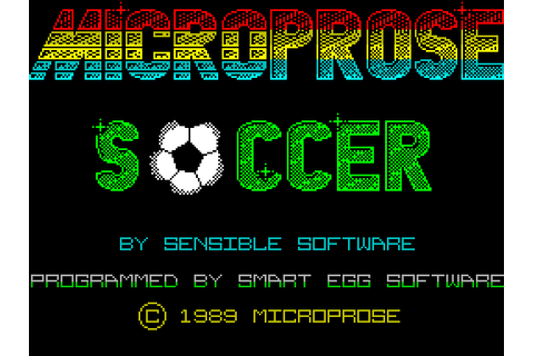 Microprose Soccer (1989) by Smart Egg Software ZX Spectrum ...