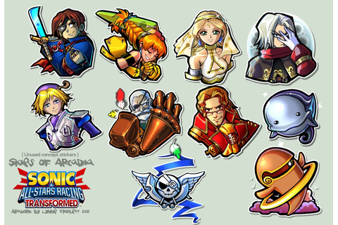 Skies of Arcadia Stickers - SART CONCEPT by imagni ...