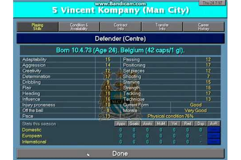 Championship Manager 97/98 Gameplay - YouTube