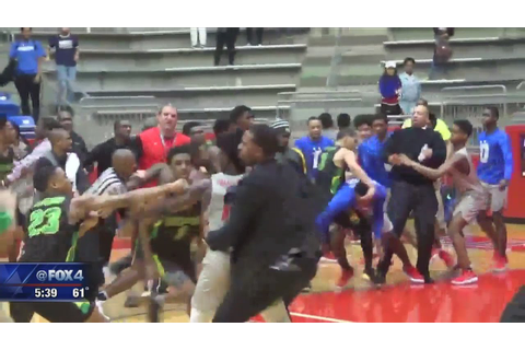 DeSoto forefeits games after basketbrawl - YouTube