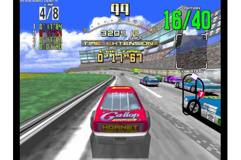 Daytona USA Arcade - Beginner Course - YouTube