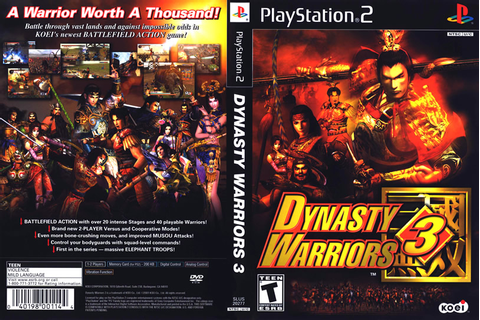 Dynasty Warriors 3 - PS2 ~ Caverna dos Games