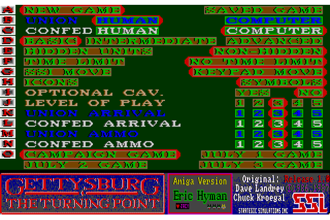 Gettysburg: The Turning Point (1988) by SSI Amiga game