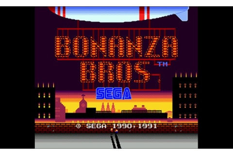 Play Bonanza Bros • Sega Genesis GamePhD