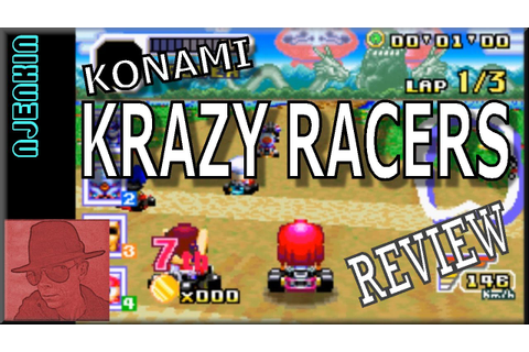 Konami Krazy Racers - on the Game Boy Advance (GBA) - with ...