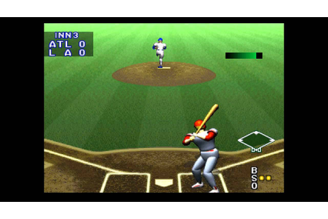 Bases Loaded 96: Double Header ... (PS1) Gameplay - YouTube