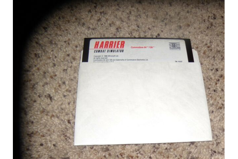 Harrier Combat Simulator Commodore 64/128 Game on 5.25 ...