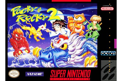 Pocky and Rocky 2 SNES Super Nintendo