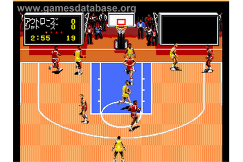 In game image of tv sports basketball on the nec pc engine ...
