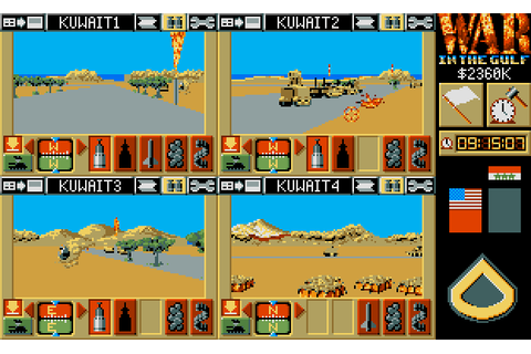 War in the Gulf (1993) by ODE Amiga game