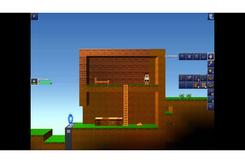 The Blockheads iOS Gameplay #002 (Building shelter,seeding ...