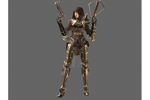 Diablo III character - Demon Hunter Female 3d model 3dsMax ...