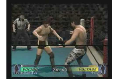Wrestle Kingdom videogame match KENTA vs Nakamura - YouTube
