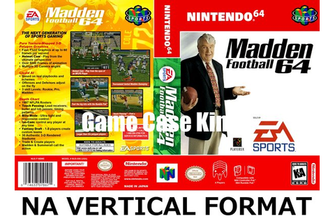 Madden Football 64 N64 video game case | Game Case King ...
