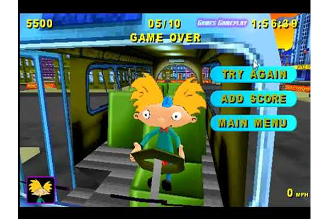Hey Arnold : Runaway Bus Game - YouTube