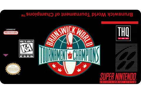 Super Nintendo Labels: Brunswick World Tournament of Champions