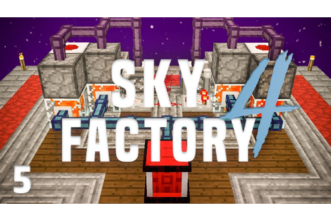 SkyFactory 4 Ep. 5 Automated Lava Production + Early Power ...