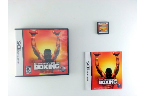Showtime Championship Boxing game for Nintendo DS ...