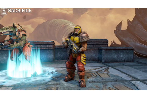Quake Champions Live Footage Gameplay Sacrifice New Game ...