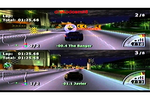 RUMBLE RACING PLASTATION 2 MULTIPLAYER 2 JUGADORES - YouTube