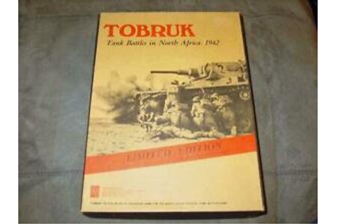 Avalon Hill AH 1975 - TOBRUK game: RARE ORIGINS Convention ...