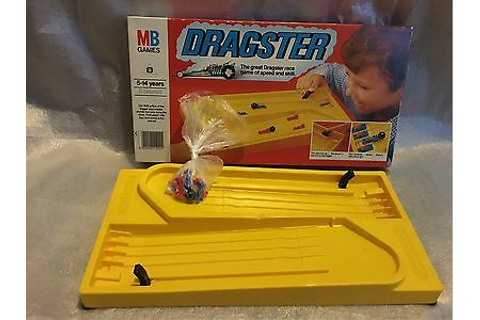"MB Games ""DRAGSTER"" Retro Car Racing Dexterity Board Game ..."