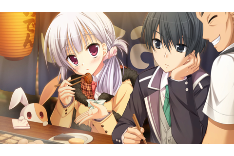 animal black eyes black hair food game cg hatsuyuki sakura ...