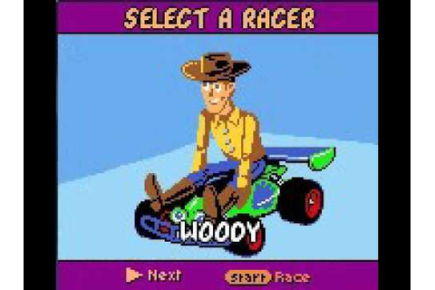 Unused Game Content ~ Toy Story Racer GBC Debug Menu Car ...