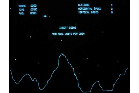 Atari Lunar Lander Vector Arcade Video Game of 1979 at www ...