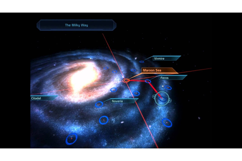 Mass Effect - Galaxy Map & Mass Relay jump - YouTube