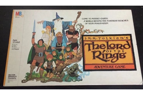 Vintage Lord of the Rings Adventure Board Game 1979 Milton ...