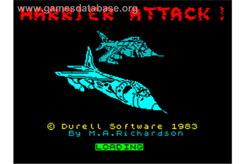 Harrier Attack - Sinclair ZX Spectrum - Games Database