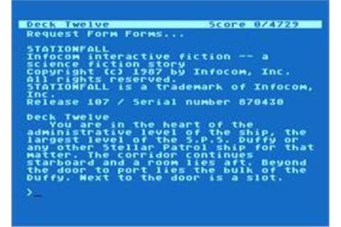 Stationfall - Atari 8-bit - Games Database