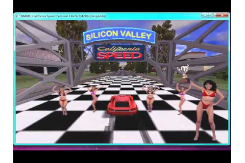 california speed 100% working on mame 147 - YouTube