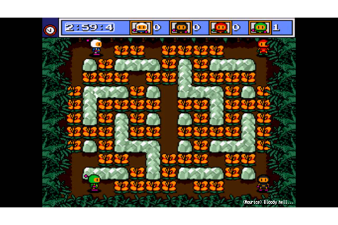 Mega Bomberman (Mega Drive) Netplay - 4 Player Battle ...