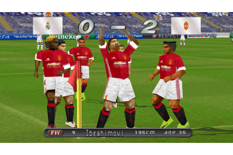 WINNING ELEVEN 2017 (PS1) Real Madrid vs Manchester United ...