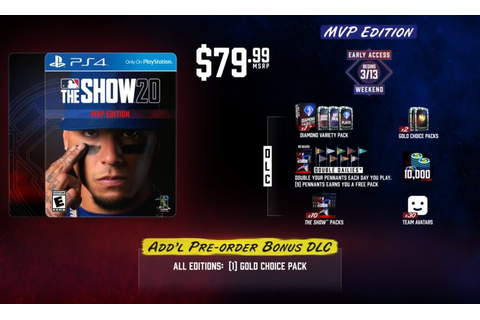 MLB The Show 20 | Game Preorders