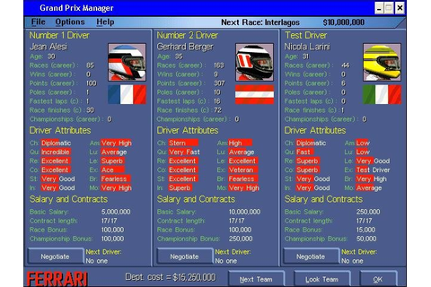 Grand Prix Manager - PC Review and Full Download | Old PC ...