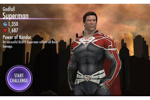 Injustice (Mobile) Superman Godfall Challenge Mode ...