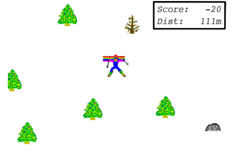 SkiFree, old Windows Game #THROWBACK | A Little 'Pizazzzz ...