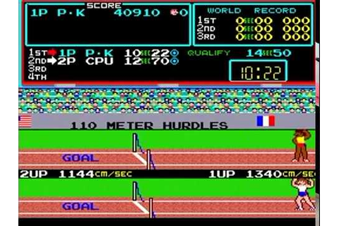 TRACK & FIELD ARCADE HIGH JUMP WORLD RECORD?? 1983 KONAMI ...