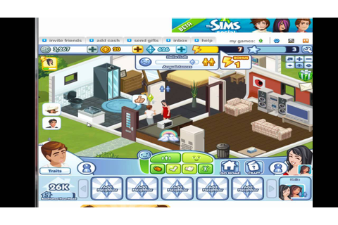 The Sims Social - Facebook Game - Gameplay [1/2] - YouTube