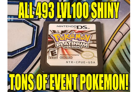 POKEMON PLATINUM AUTHENTIC All 493 SHINY GAME UNLOCKED ...